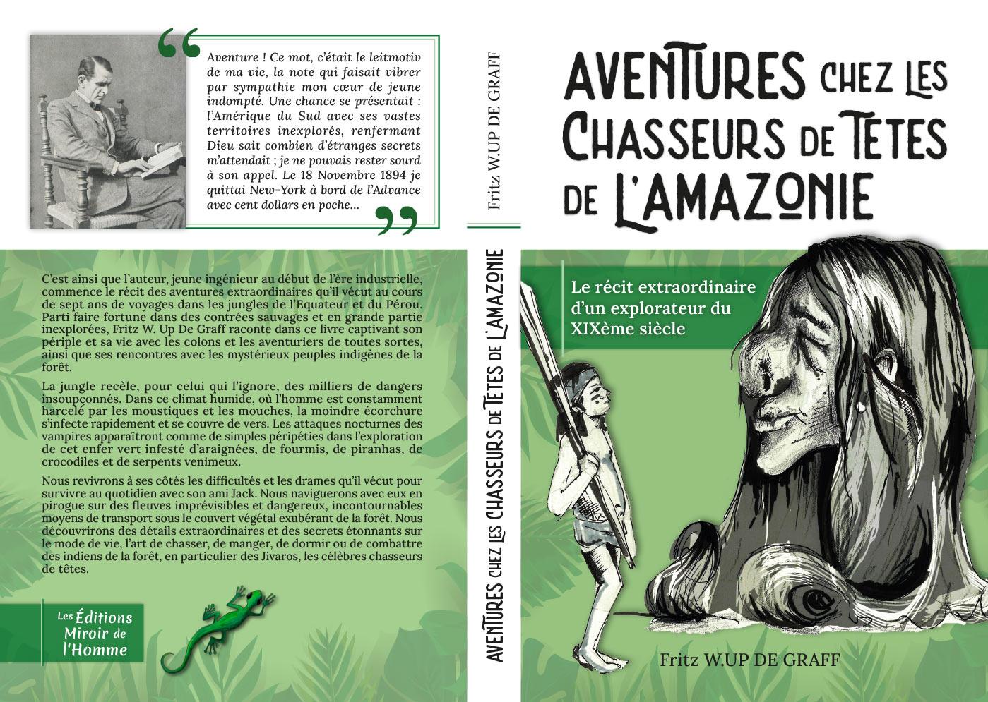 couverture complète aventures chez les chasseurs de têtes de l'amazonie