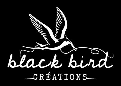 logo négatif black bird créations