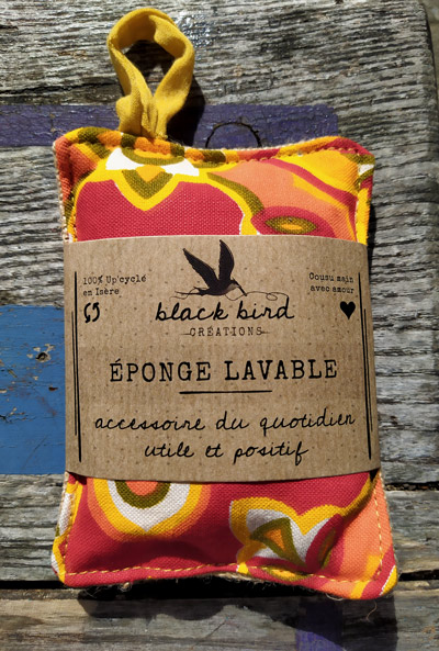 créations éponge black bird