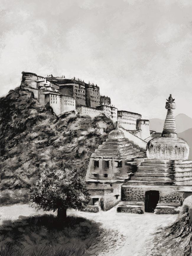 illustration du livre voyage à Lhassa